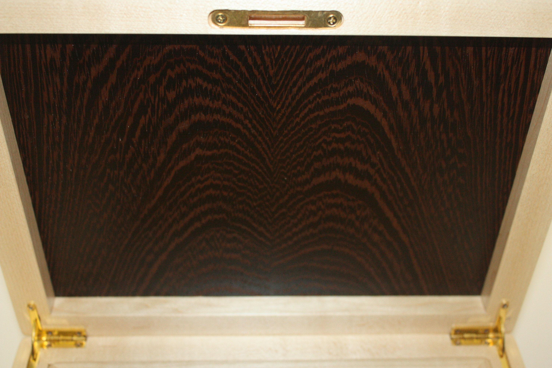 Hinged Lid Wenge Wood Box