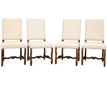Set of Four French Os de Mouton Dining Chairs