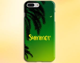 Island Summer x Palm Tree Paradise Phone Case, iPhone 7, iPhone 7 Plus, Rubber iPhone Case, Galaxy S8 Samsung Galaxy Edge Case CASE ESCAPE