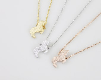 Unicorn Necklace Tiny Unicorn Charm Necklace Dainty Charm Necklace Birthday Gift