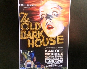 """The Old Dark House Movie Poster Magnet 6 1/4"""" X 9"""" Classic Horror Movie"""