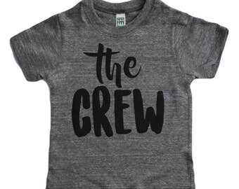 The Crew tshirt big bro tshirt, little boy big brother big sister New to the Crew sibling shirt, pregnancy announcement big brother t shirt