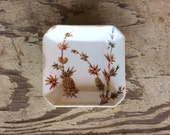 Square Butter Pat Plate, Small Plate, Dish, China, Pineapple, Floral