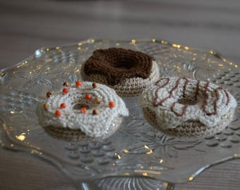 Crochet donuts | 3 pieces