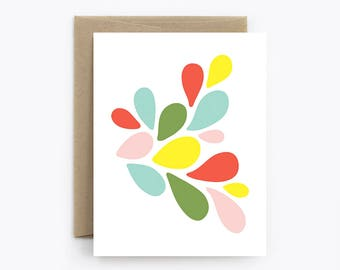 Blank Card - Birthday, Friendship, Just Because, Thank You - Petals