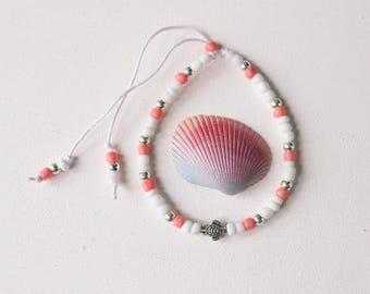 Adjustable Slider Sea Turtle Beaded Cotton Bracelets // Beach Jewelry // Boho Style // Summer // Friendship Bracelets
