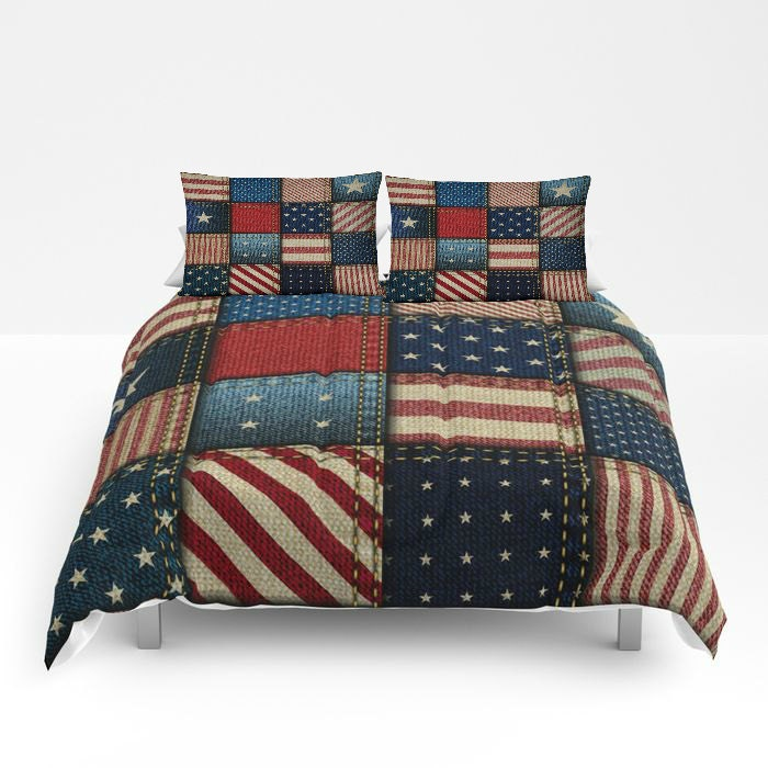 Americana Comforter Or Duvet Cover Set Twin Full Queen