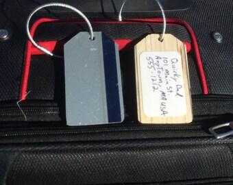 Recycled Ski Luggage Tag, Luggage Tags, Unique Luggage Tag.