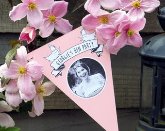 Personalised Hen Party Bunting // Name & Photo