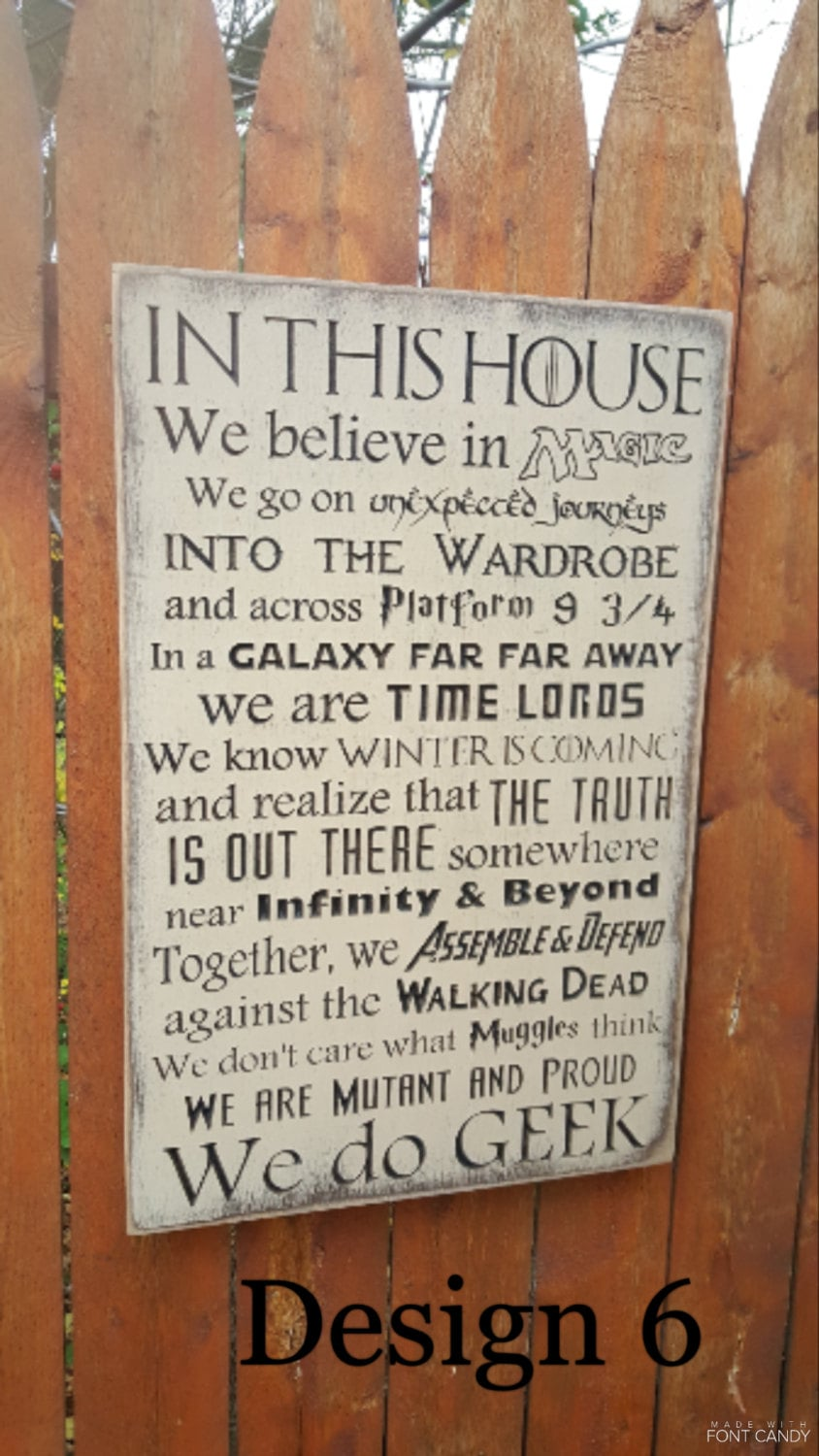 Custom Carved Wooden Sign In This House We Believe In