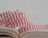 """1/2"""" Double Fold Bias Tape: Wallpaper in Pink, Stripe"""