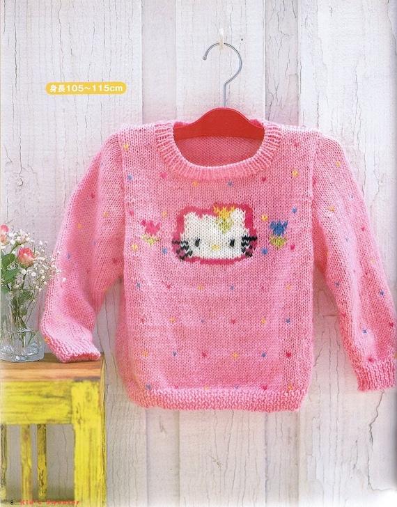 Hello Kitty Cardigan Knitting Pattern : Hello Kitty Kids Sweater - Knit Patterns - Crochet Patterns - Japanese C...