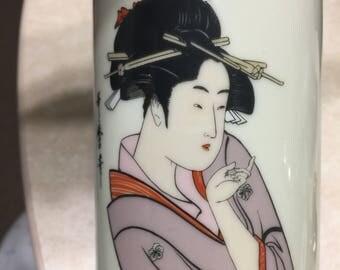 Sale! Japanese geisha coffee tea mug cup asian kimono