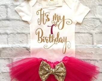 Baby Girl Clothes, First Birthday Bodysuit It's My First Birthday Bodysuit, Smash Cake Shirt, It's My First Birthday Shirt, First Birthday
