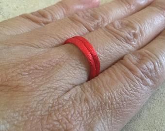 Red Satin Ring Band. Kabbalah. Evil Eye. String of Fate. Good Luck. Men's Ring. Women's Ring. Protection. Hamsa. Love Token. RSRB
