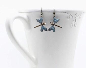 Dragonfly earrings nature lover jewelry dangle earrings