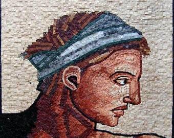 """Michelangelo  """"Self Portrait"""" - Mosaic Reproduction"""