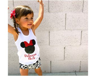 Minnie Mouse Racerback Tank // Minnie Mouse Mickey Mouse  // Princess // Personalize
