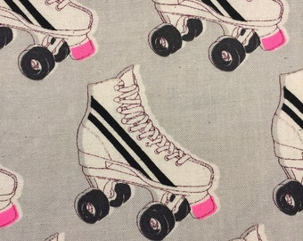 Roller Rink Neon Pink from the Black and White Collaborative Collection for Cotton and Steel