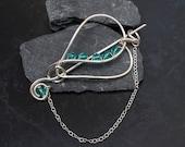 Silver pinsilver wire heart shape pin sweater broochscarf brooch