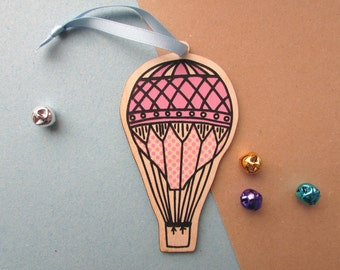 Hot Air Balloon Decoration, Christmas Tree Ornament.