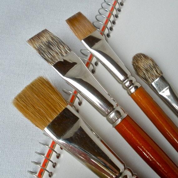 Artist Brushes Sable Badger Acrylic Pure Bristle Alexander