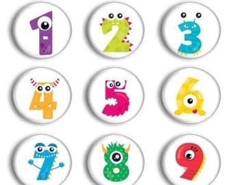 Number Practice - Preschool Learning - Party Favors - Number Magnets - Counting Practice - Preschool Teacher - Student Numbers - Gift