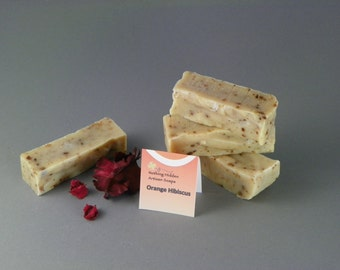 Orange Hibiscus Handmade Cold Process All Natural Soap