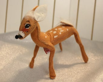 Vintage Annalee Reindeer with Spots on Back Ready for Christmas Annalee Dolls 1992 Christmas Decoration
