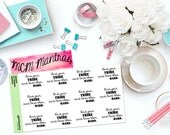 "MCM MANTRAS: ""Find your tribe and love them hard"" Paper Planner Stickers!"