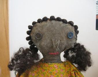 Primitive Doll Maeve, OOAK, Primitive Dolls, Primitive Rag Dolls, Primitive Folk Art, Folk Art, Dolls