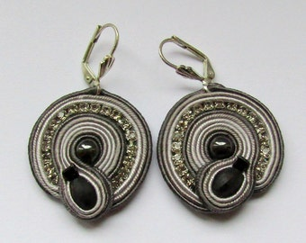 Soutache Earrings Tiny gray