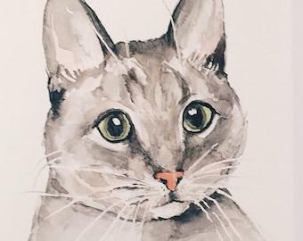 Custom Watercolor Portrait- 5x7
