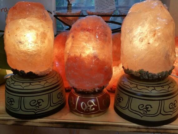 Salt Lamp Ion Generator : Intention Himalayan Salt Lamp with Crystals / Negative Ion