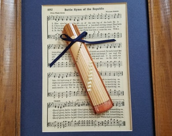 Picture of song and miniature Japanese zither