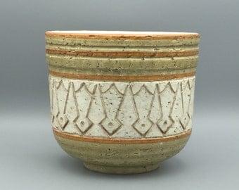 Bitossi  /  Raymond  Pottery Italian ceramic 1970s , medium size planter for Rosenthal Netter Germany.