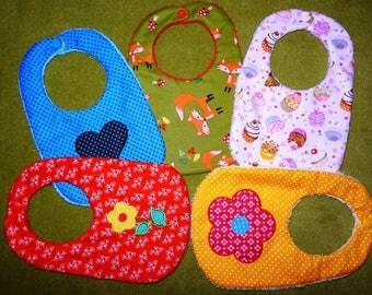 Machine embroidery applique bib ITH 18 x 30 cm