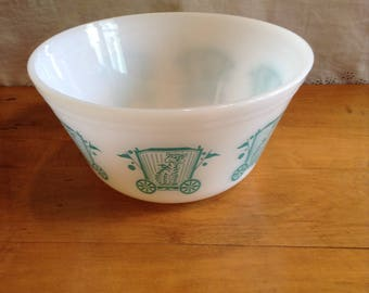 "Vintage FEDERAL Glass Company 'CIRCUS' BOWL. One Of Set of Four Produced. Perfect Condition. Large Size. 8"" Size."