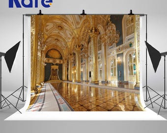 European Gorgeous Palace Photography Backdrops Indoor Church Photo Backgrounds for Wedding Studio Props