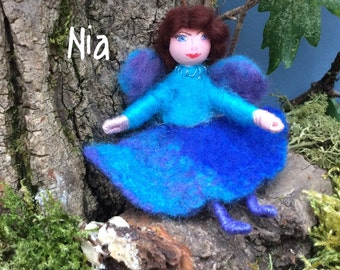 Wool felted fairy, Welsh fairy,minature fairy