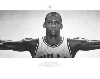 Michael Jordan Wings Chicago Bulls 21 X 62 inches
