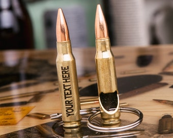 308 Bullet Bottle Opener Keychain made with a Real .308 Caliber Shell Casing