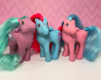FREE SHIPPING! Vintage My Little Pony Flutter Lot of 3 Cloud Puff Tropical Breeze & Wingsong