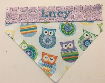 Personalized Owl Dog Bandana