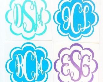 Keepsake Font Monogram Decals | Yeti Cup Decal | Tumbler Cup | Car Decal | Laptop Decal | Custom Decal | Vinyl Decal