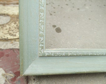 10 x 13 Vintage Green Picture Frame ~ Wooden Picture Frame
