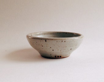 smooth speckled bowl, wheelthrown minimalist stoneware, gray ceramic bowl, grey pottery dinnerware
