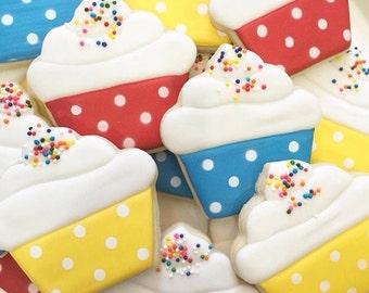 2 Dozen Cupcake Cookies with Sprinkles