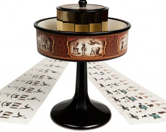 Praxinoscope Animation Vintage Optical Illusion Toy | Zoetrope Similar | Brown Or Black Colour Choice