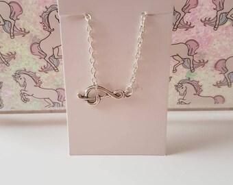 Treble Clef Connector Bracelet